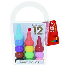 日本 儿童彩色蜡笔 宝宝积木 无毒无害蜡笔 12支装