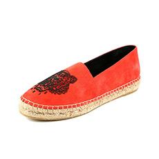 进口牛皮革虎头女式单鞋