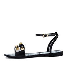 意大利 金属装饰平跟凉鞋H1AB5074E2A01
