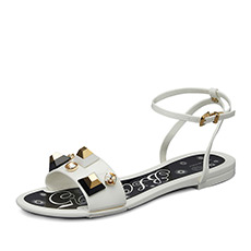 金属装饰平跟凉鞋H1AB5074E2K01