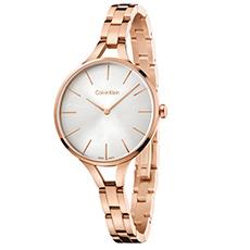 graphic结构系列时尚腕表 钢表带石英表 玫瑰金色