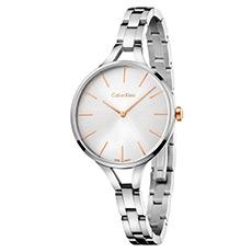 graphic结构系列时尚腕表 钢表带石英表 银色玫瑰金表盘