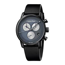 CITY系列日期显示蓝色表盘石英男士手表