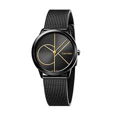 Minimal永恒系列 黑盘钢带时尚腕表