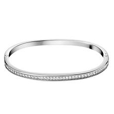 抛光316L银白色精钢单排施华洛世奇水晶细手镯 护刻系列