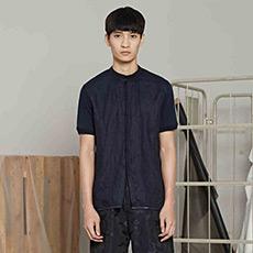 小立领短袖衬衫9H411139