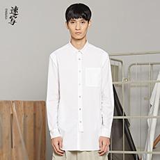 中长款长袖休闲衬衫 9HB10221