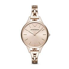 个性时尚钢带石英女士手表AR11055