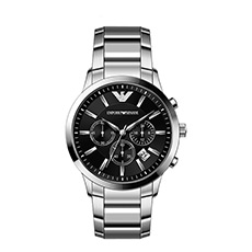 商务钢带防水石英表欧美男士手表AR2434