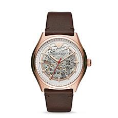 复古潮流皮革带镂空机械男士手表AR60005