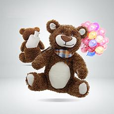 注水PVC小熊可爱卡通玩偶外套热水袋暖手宝6539