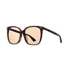 玳瑁色大框时尚太阳镜