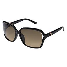 黑色镜框灰色镜片时尚太阳镜