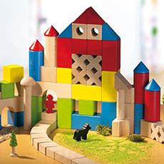 彩色几何形状色彩认知玩具 30块彩色积木 益智玩具