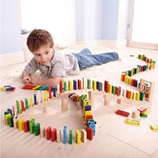 多米诺骨牌 积木木制 益智玩具 240块