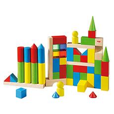 彩色城堡童话积木 54块彩色积木 益智玩具