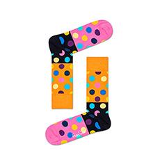 情侣款经典波点圆点时尚彩色撞色中筒袜 BDB01