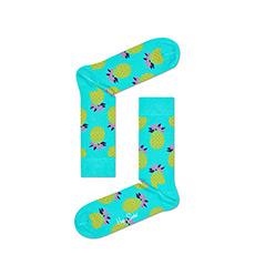 情侣款菠萝水果图案时尚彩袜中筒棉袜PIN01-7000