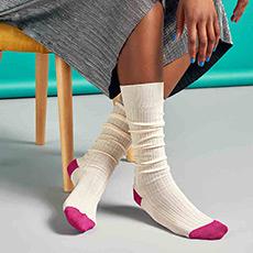 拼接色可爱个性堆堆袜高筒帮长丝袜