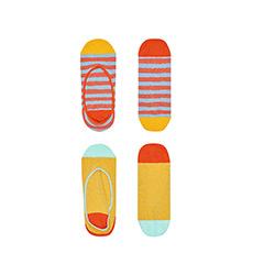 糖果色彩条双杠女士船袜SISCLA20