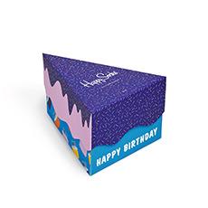 情侣款生日蛋糕礼盒套装花纹彩条中帮袜子 XBDA08-6001