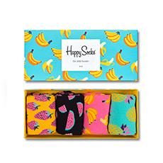 情侣款水果香蕉女朋友礼物盒装中筒长袜 Xpop09-3000