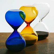 日本设计 精致玻璃沙漏 计时器 3至15分钟