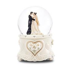 珍爱一生婚礼上的华尔兹浪漫动人旋转水晶球音乐盒