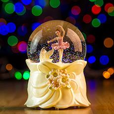 芭蕾公主天鹅湖 水晶球音乐盒