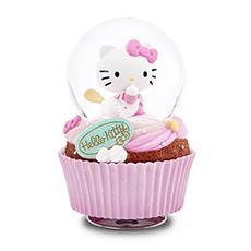 Hello kitty杯子蛋糕甜点旋转水晶球