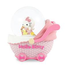 Hello kitty婴儿车水晶球音乐盒