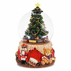 圣诞树水晶球音乐盒
