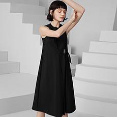 韩版无袖背心宽松女士连衣裙5170231299021