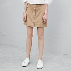 韩版A字裙子单排扣女士半身裙5170511846041
