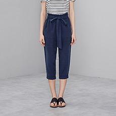 时尚简约宽松高腰通勤女士七分阔腿裤5170523350491