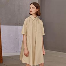 短袖宽松A字衬衫连衣裙5170632299161