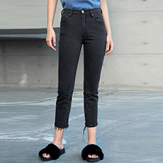 流苏小脚裤女士牛仔长裤5170913056111