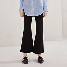 韩版修身黑色微喇裤弹力女士牛仔长裤5170933056121