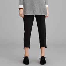时尚气质小脚铅笔长裤简约黑色女士裤子5171013050091