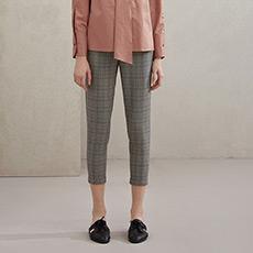 时尚气质通勤女士小脚格子长裤5171213050561