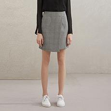 格子A字女士半身短裙5180112940251