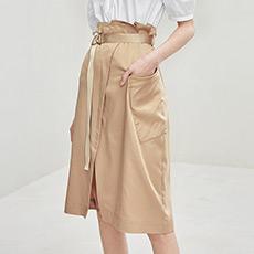 OL气质开衩中长款A字女士半身裙5180132240351