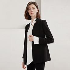 西服外套女士职业通勤短款黑色小西装5180213412311