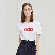 纯色字母女士短袖T恤5180411207601