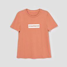直筒字母纯色女士短袖T恤5180411207603