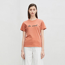 修身时尚字母纯棉女士短袖T恤5180411207622
