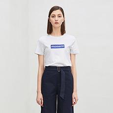修身字母女士短袖T恤5180411207651