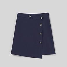 单排扣A字女士半身短裙5180412240421
