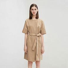 时尚修身中袖圆领女士连衣裙5180412399091