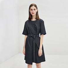 时尚修身中袖圆领女士连衣裙5180412399092